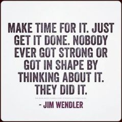 Make time for it
