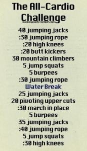 all cardio challenge