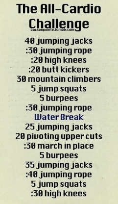 all cardio challenge
