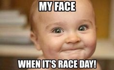 my face on race day