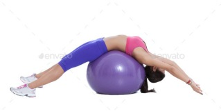 spinal stretch on stability ball