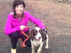 Marion & her running buddy