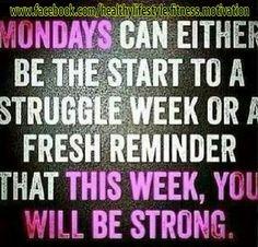 Monday startover