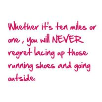 Never regret running