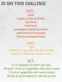 30 Day Food Challenge
