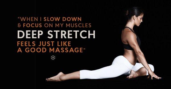Deep stretch good massage