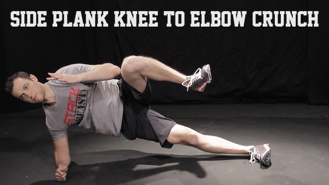 Side Plank Knee to Elbow Crunch STACK