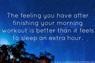 workout instead of sleeping in