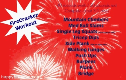 Firecracker workout