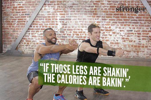 Legs shakin calories bakin
