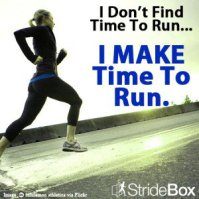 Make time to run