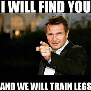 We will train legs