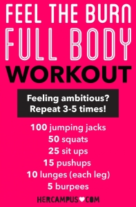 Feel the Burn Workout