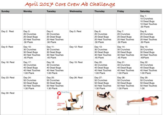 April 2017 Core Crew Ab Challenge