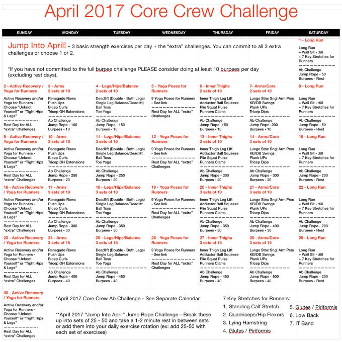 April 2017 Core Crew Challenge