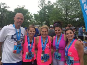 Philly #CoreCrew at Broadstreet 10 miler 5/7/17