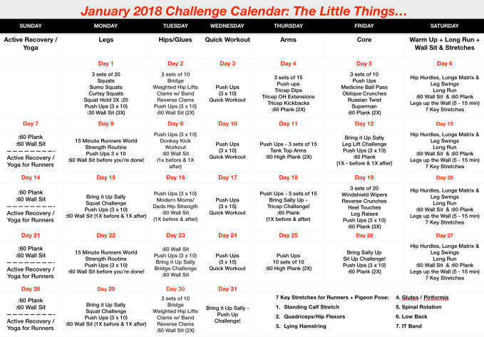 January 2018 Challenge: The Little Things...