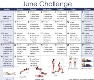 June 2015 Challenge Calendar